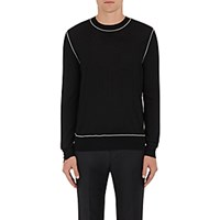 Givenchy Men's Embellished Wool Sweater Blue