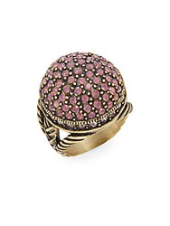 Heidi Daus New Belgium Swarovski Crystal Disc Ring Gold Pink