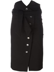 Iro Belted Button Skirt Black