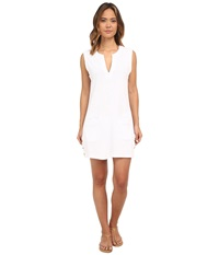 Lauren Ralph Lauren Button Solids Sleeveless Buttron Tunic Cover Up White Women's Swimwear
