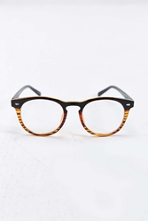 Urban Outfitters Blocked Round Readers Black Multi