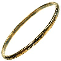 House Of Alaia Compassion Bangle Antiqued Bronze