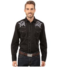 Roper 0069 Tribal Embroidery Black Men's Clothing
