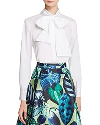 Gracia Poplin Bow Blouse Compare At 92 Ivory