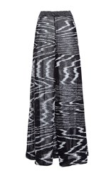 Missoni Maxi A Line Skirt Black White