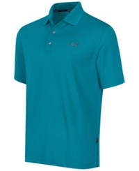 Greg Norman For Tasso Elba Big And Tall 5 Iron Performance Golf Polo Freshwater Teal