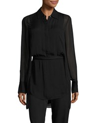 Dkny Cutout Caplet Tunic Black