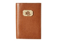 Lauren Ralph Lauren Newbury Lrl Passport Case Tan Wallet