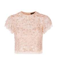 Needle And Thread Embellished Starlit Top Female Pink
