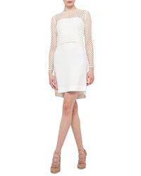 Akris Punto Long Sleeve Jersey T Shirt Dress Cream Ivory