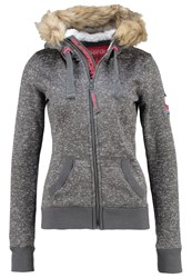 Superdry Storm Cardigan Snow Charcoal Grey