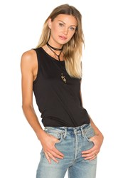 James Perse Wrap Back Tank Black