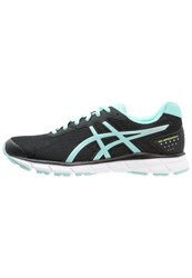 Asics Gelimpression 9 Cushioned Running Shoes Black Aruba Blue Safety Yellow