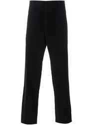 Yves Saint Laurent Vintage Velvet Trousers Black