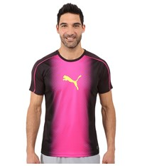 Puma It Evotrg Cat Graphic Tee Black Pink Glo Men's T Shirt