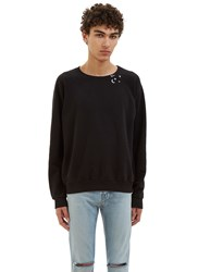 Saint Laurent Moon Star Raglan Sleeved Sweater Black
