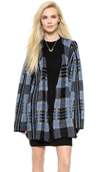 Unif Ditch Cardigan Blue Plaid