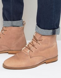 Bobbies L'explorateur Faux Shearling Lace Up Boots Pink