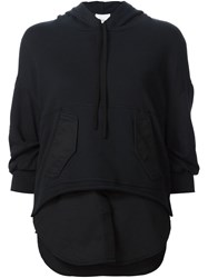 3.1 Phillip Lim Layered Hoodie Black