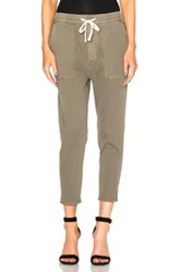 James Perse Relaxed Twill Pants In Green