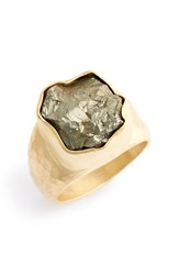 Heather Benjamin Pyrite Drusy Ring Gold