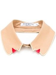 Vivetta Profile Shaped Collar Nude And Neutrals