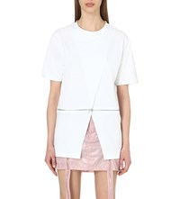 Hood By Air Zipped Cotton Top White