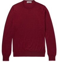 Canali Wool Sweater Burgundy