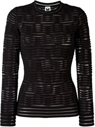 M Missoni Geometric Pattern See Through Top Black
