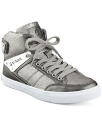 G By Guess Odean High Top Sneakers Women's Shoes Pewter