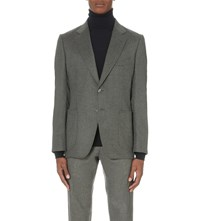 Tom Ford Single Breasted Cashmere Jacket Grey