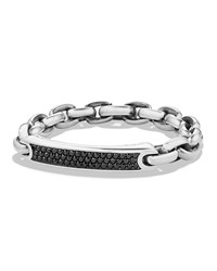 David Yurman Men's Streamline Id Bracelet With Black Diamonds