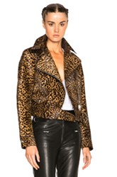 Isabel Marant Eston Wild Pony Coat In Neutrals Animal Print Neutrals Animal Print