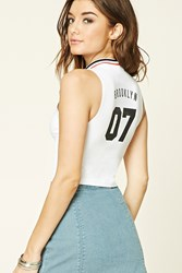 Forever 21 New York Graphic Crop Top