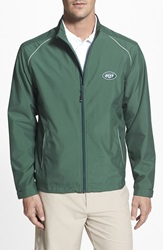 Cutter Buck 'New York Jets Beacon' Weathertec Wind And Water Resistant Jacket Big And Tall Hunter Green