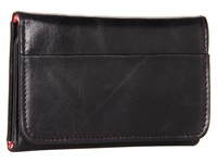 Hobo Jill Trifold Wallet Black Vintage Leather Clutch Handbags