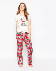 Cath Kidston Christmas Pyjama Bottoms Red