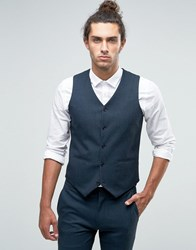 Asos Super Skinny Waistcoat With Insert In Green Green