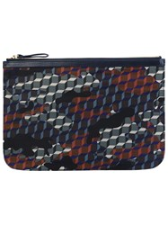Pierre Hardy Geometric Print Clutch Multicolour