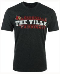 Colosseum Men's Louisville Cardinals Verbiage Stack T Shirt Charcoal
