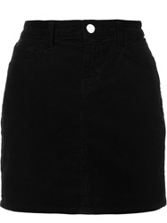 J Brand Fitted Mini Skirt Black