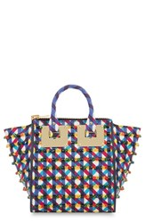 Sophie Hulme 'Small Holmes North South' Embellished Leather Satchel