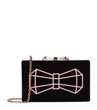 Ted Baker Bowwe Glitter Resin Clutch Female Black
