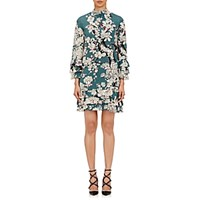 Valentino Women's Enchanted Tree Print Dress Light Green