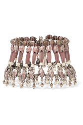 Etro Silver Plated Rhodonite And Mother Of Pearl Bracelet Pink