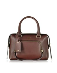 Dkny Greenwich Leather Small Satchel Bag Oxblood