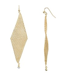 Jules Smith Designs Crystal Mesh Drop Earrings Gold