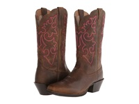 Ariat Round Up Square Toe Powder Brown Cowboy Boots