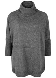 Duffy Grey Roll Neck Cashmere Jumper