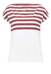 Kiomi Print Tshirt White Red